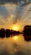 Глядит на облака река И видит только облака. А облака – наоборот: Себя в реке лишь видят. Вот.